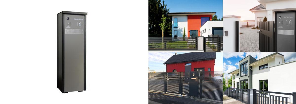 Briefkastensäule für Ihr Zuhause von Stroff Metalltechnik