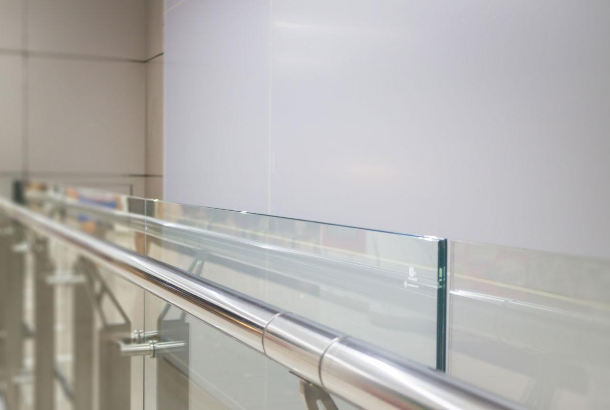 Geländer mit VSG Verbundsicherheitsglas